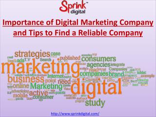 Importance of Digital Marketing Company and Tips to Find a R