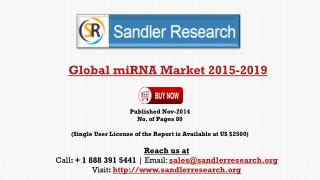 Global MiRNA Market Growth Drivers Analysis 2019