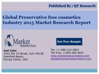 Global Preservative free cosmetics Industry 2015 Market Rese