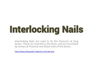 Manufacturer and suppliers Interlocking Nails