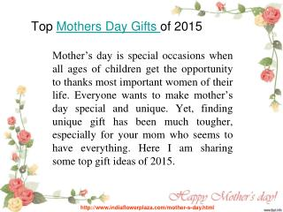 Top mothers day gifts for 2015