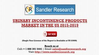 Urinary Incontinence Products Market in the US 2019