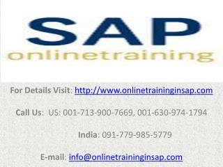 SAP WM (Warehouse Management) Online Training and Placement