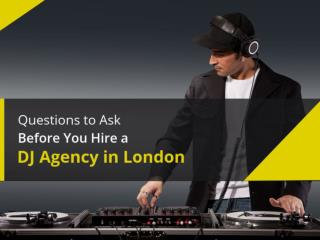 The Best Professional DJ Agency in London - Hire Now!