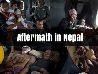 Aftermath in Nepal