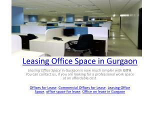 Leasing Office Space in Gurgaon