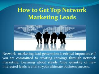 Top Network Marketing Companies