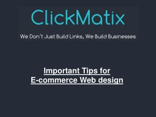Important Tips For E-commerce Web Design
