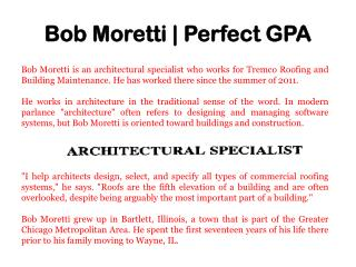 Bob Moretti   Perfect GPA