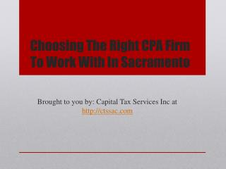 Choosing The Right CPA Firm To Work With In Sacramento