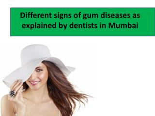 Signs of gum disease resulting in need for dental implants i