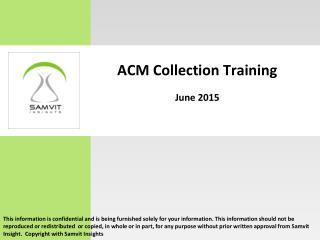 ACM Collection presentation