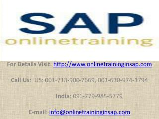 SAP PP(Production Planning) Online Training and Placement