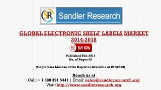 Global Electronic Shelf Labels Market Growth Drivers Analysi