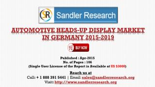 Automotive Heads-up Display Market in Germany to 2019 Resear