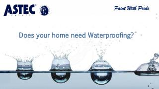 Does your home need Waterproofing?