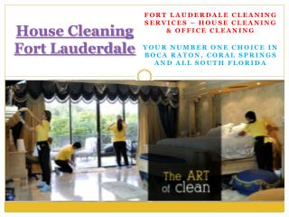 Cleaning Services Coral Springs.