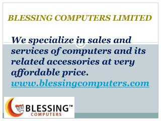 Notebook Computers - Blessing Computers Limited
