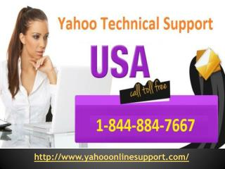 Yahoo Mail Technical Support 1-844-884-7667 Phone Number