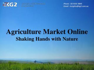 Agriculture Market Online - Shaking Hands with Nature