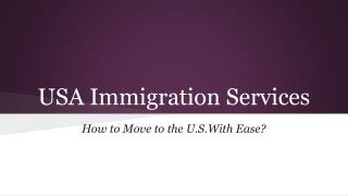 How to Move to the U.S.With Ease?