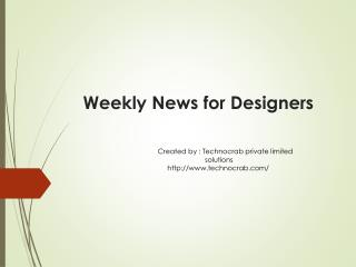 New Resources & Tools Weekly News for Designers