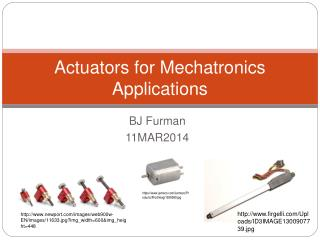 Actuators for Mechatronics Applications