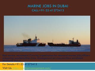 Crewing companies in mumbai, offshore marine jobs dubai, off