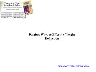 Painless Ways to Effective Weight Reduction