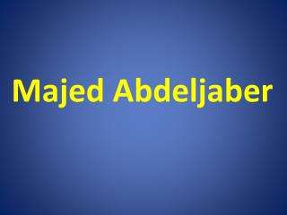 Majed Abdeljaber - Honorary Counselor