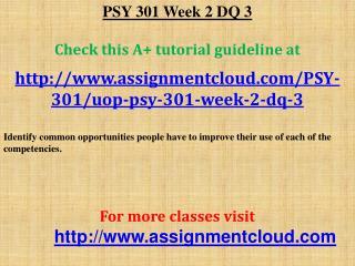 PSY 301 Week 2 DQ 3