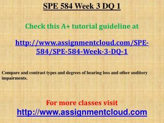 SPE 584 Week 3 DQ 1