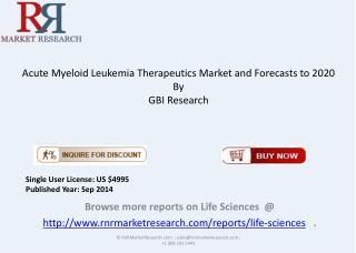 Acute Myeloid Leukemia Therapeutics Market Overview to 2020