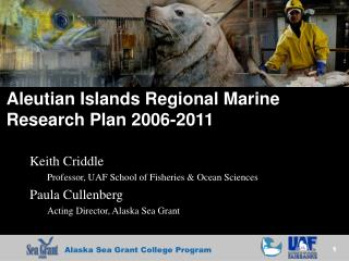 Aleutian Islands Regional Marine Research Plan 2006-2011