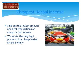 Cheapest Herbal Incense