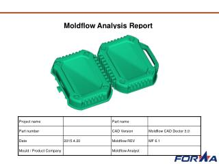 Moldflow analysis for plastic mold products