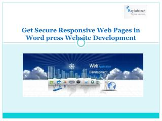 Responsive Web Pages in Word press Website Development