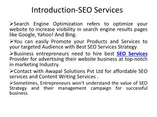 Best SEO Services Company for your Business Growth