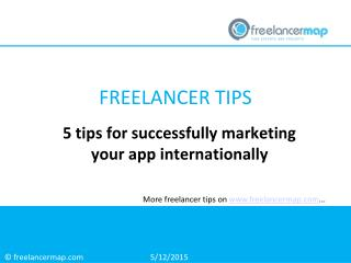 5 Tips for Successfully Marketing your App Internationally