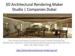 3D Architectural Rendering Maker Studio   Companies Dubai
