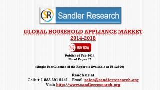 Global Household Appliance Market Landscape 2018