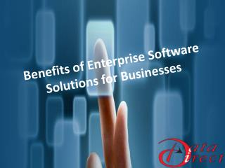 Benefits of Enterprise Software Solutions for Businesses