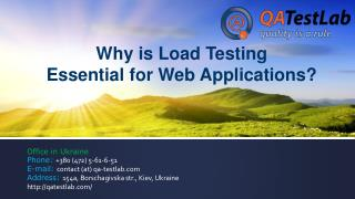 Why is Load Testing Essential for Web Applications?