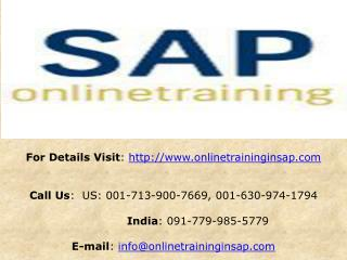 SAP BW Online Training and Placement