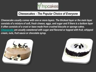 Cheesecake Express Delivery Online From FNP Cakes