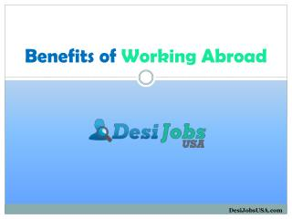 Benefits of Working Abroad