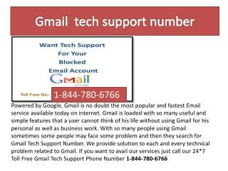 Gmail Tech Support Number 1-844-780-6766