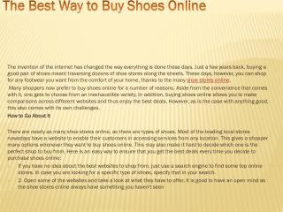 The Best Way to Buy Shoes Online