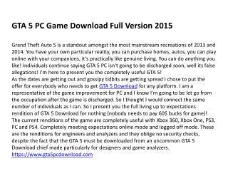 GTA 5 PC Game Download
