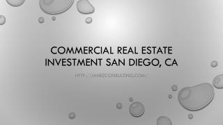 Commercial Real Estate Investment San Diego, CA